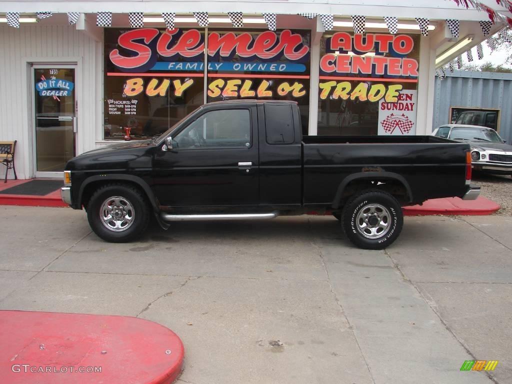 Super black nissan hardbody truck