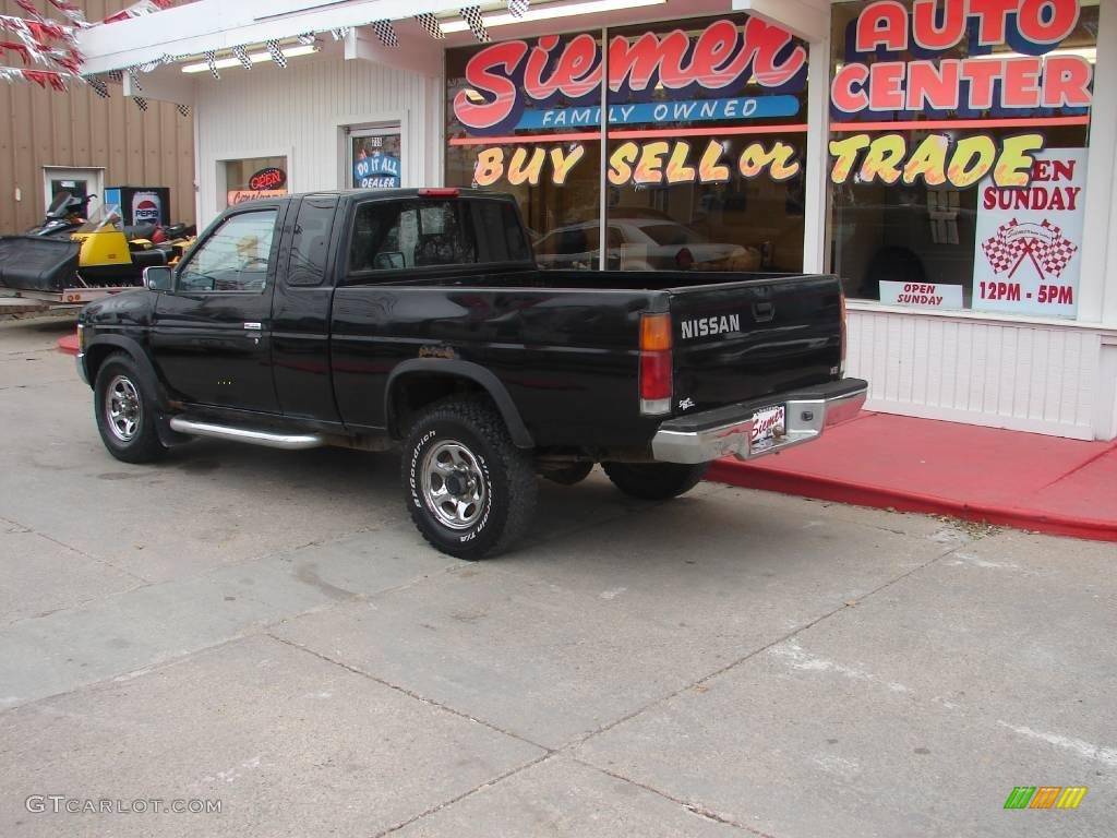 1995 hardbody truck xe extended cab 4x4 super black gray photo 2