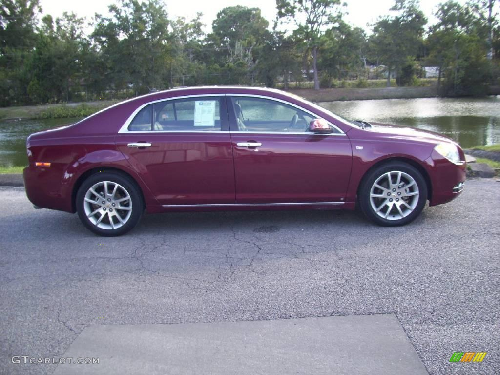 2008 red jewel tint coat chevrolet malibu ltz sedan 20077223 car color galleries. Black Bedroom Furniture Sets. Home Design Ideas
