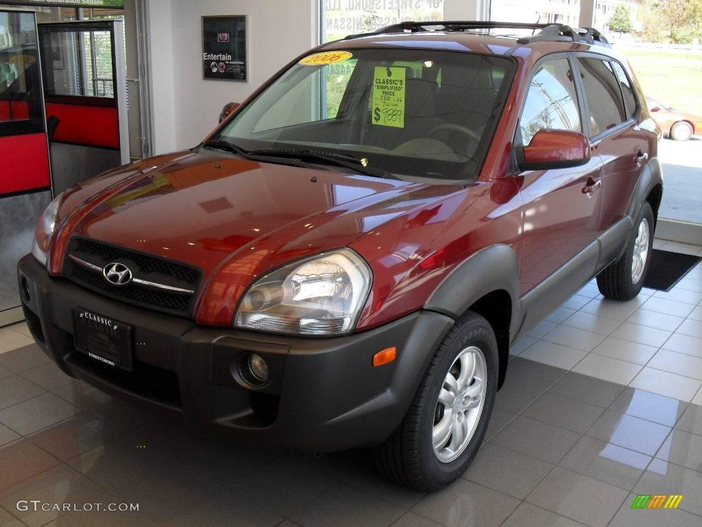 2006 mesa red hyundai tucson gls v6 4x4 20145957 car color galleries. Black Bedroom Furniture Sets. Home Design Ideas