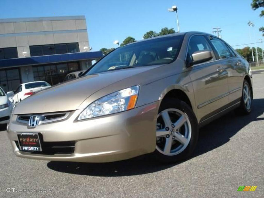 2004 Accord EX L Sedan   Desert Mist Metallic / Ivory Photo #1