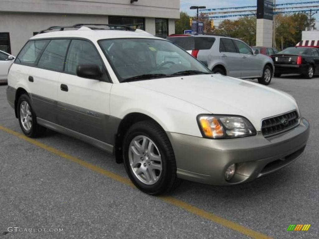 2004 white frost pearl subaru outback wagon 20224209 gtcarlot 2004 outback wagon white frost pearl beige photo 1 vanachro Images