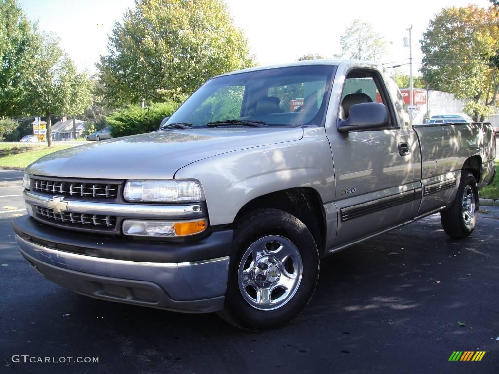 2002 Silverado 1500 Work Truck Regular Cab - Light Pewter Metallic / Graphite Gray photo #1
