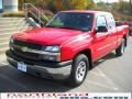 2005 Victory Red Chevrolet Silverado 1500 Extended Cab 4x4  photo #2