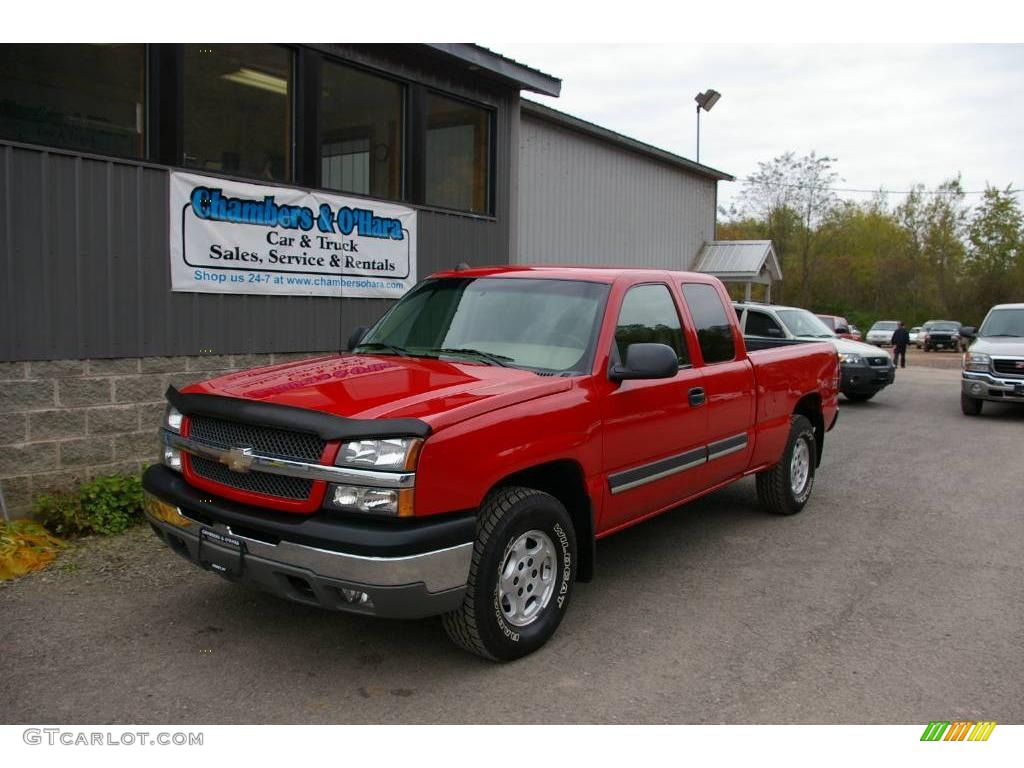 2004 victory red chevrolet silverado 1500 z71 extended cab. Black Bedroom Furniture Sets. Home Design Ideas