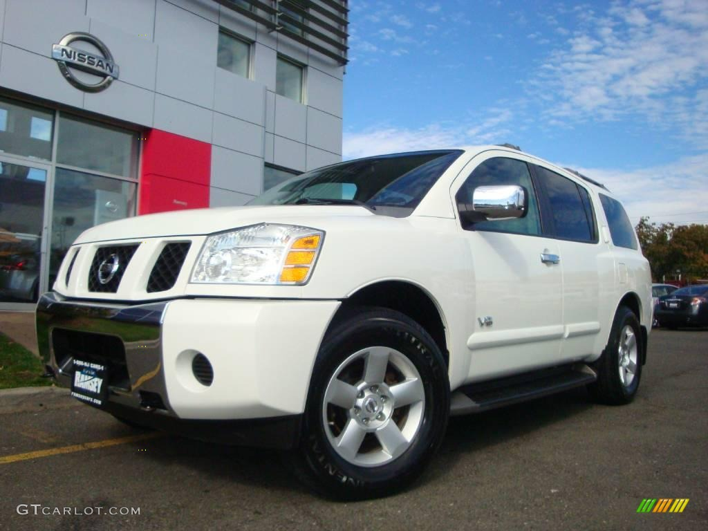 2005 blizzard white nissan armada se 4x4 20238861 car color galleries. Black Bedroom Furniture Sets. Home Design Ideas
