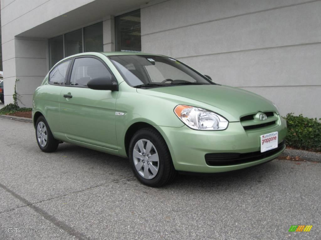 2008 Apple Green Hyundai Accent GS Coupe 20239125