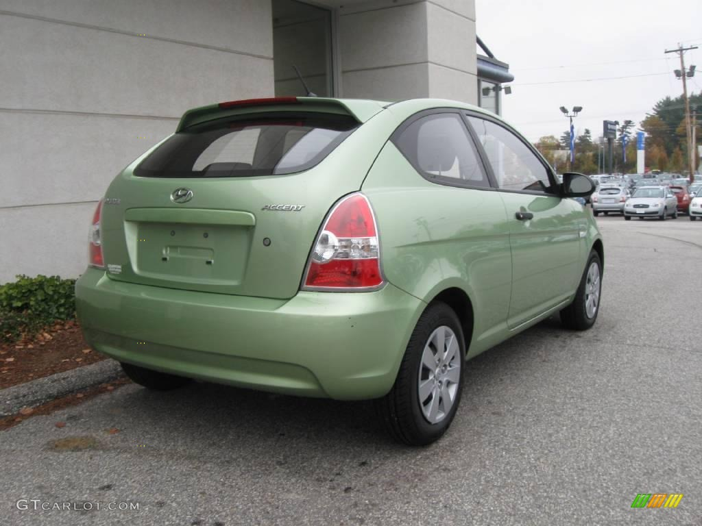 2008 Apple Green Hyundai Accent GS Coupe 20239125 Photo