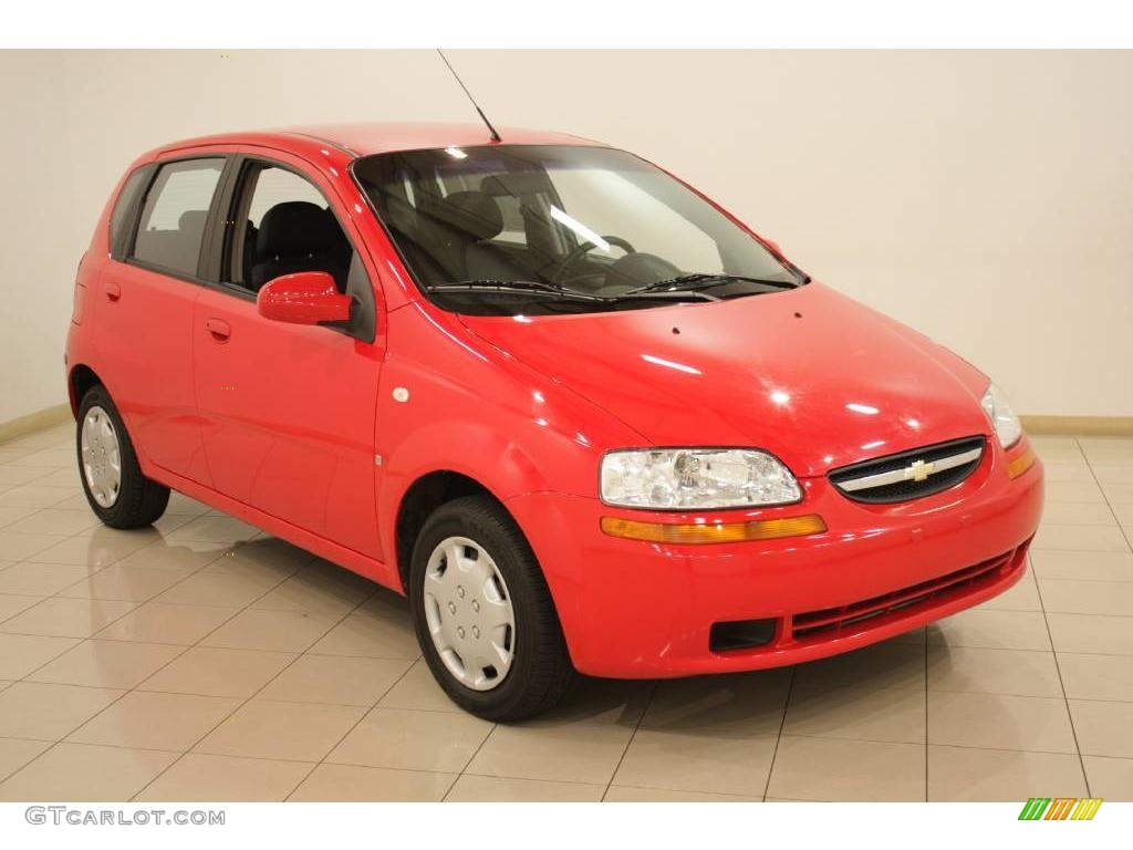 2007 Victory Red Chevrolet Aveo 5 LS Hatchback 20244765
