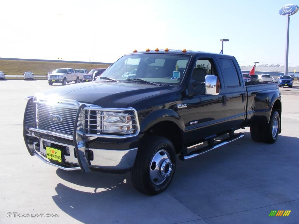 2007 black ford f350 super duty lariat crew cab 4x4 dually. Black Bedroom Furniture Sets. Home Design Ideas