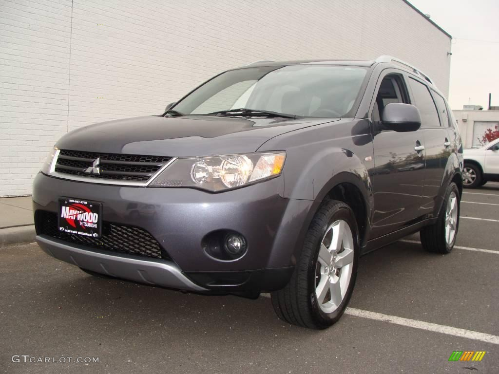 2007 graphite gray pearl mitsubishi outlander xls 4wd. Black Bedroom Furniture Sets. Home Design Ideas