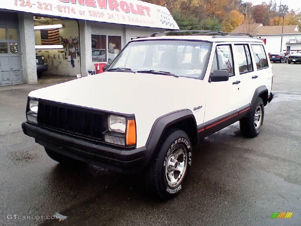 1996 stone white jeep cherokee sport 4wd #20291191 | gtcarlot