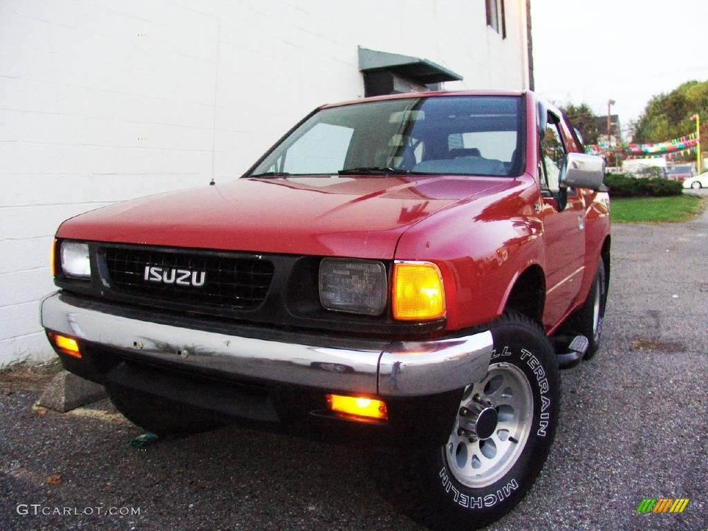 Radiant Red Isuzu Amigo