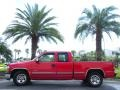 2000 Victory Red Chevrolet Silverado 1500 LS Extended Cab  photo #1