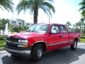 2000 Victory Red Chevrolet Silverado 1500 LS Extended Cab  photo #2