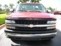 2000 Victory Red Chevrolet Silverado 1500 LS Extended Cab  photo #3