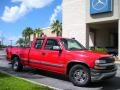 2000 Victory Red Chevrolet Silverado 1500 LS Extended Cab  photo #4