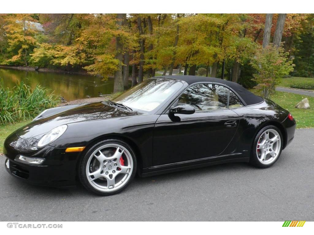 2006 black porsche 911 carrera 4s cabriolet 20293893 car color galleries. Black Bedroom Furniture Sets. Home Design Ideas