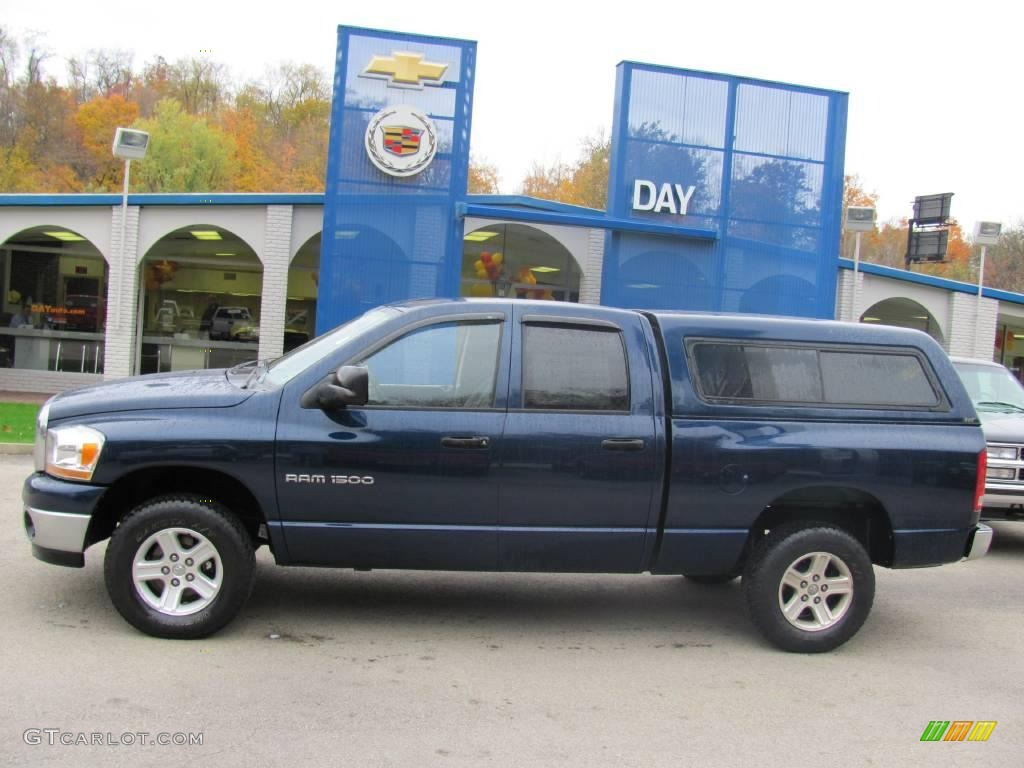 2006 Ram 1500 SLT Quad Cab 4x4 - Patriot Blue Pearl / Medium Slate Gray photo #2