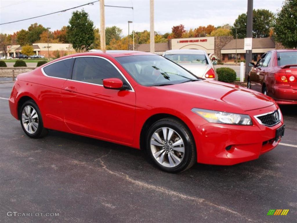 San Marino Red 2008 Honda Accord Ex Coupe Exterior Photo