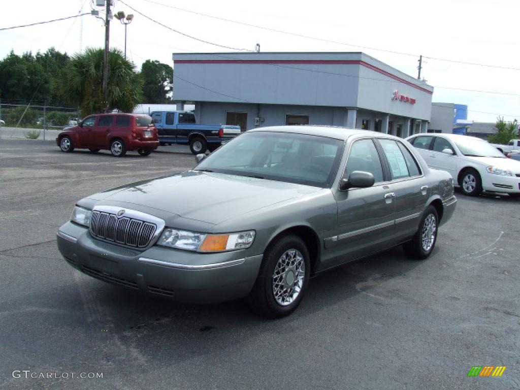 2000 Grand Marquis Gs Spruce Green Metallic Medium Parchment Photo 1