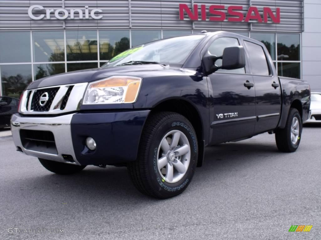 2010 navy blue metallic nissan titan se crew cab 20458425 car color galleries. Black Bedroom Furniture Sets. Home Design Ideas