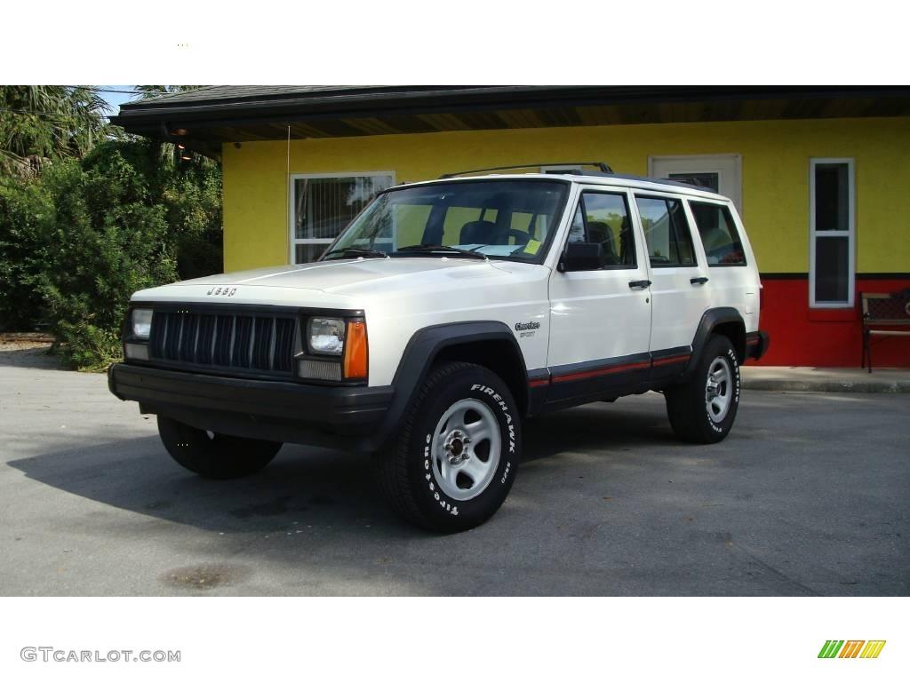 1996 stone white jeep cherokee sport #20459712 | gtcarlot