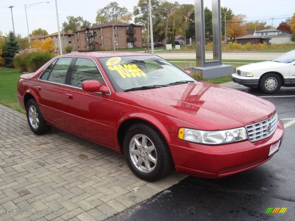 2002 Crimson Red Pearl Cadillac Seville SLS #20451915 Photo #3 ...