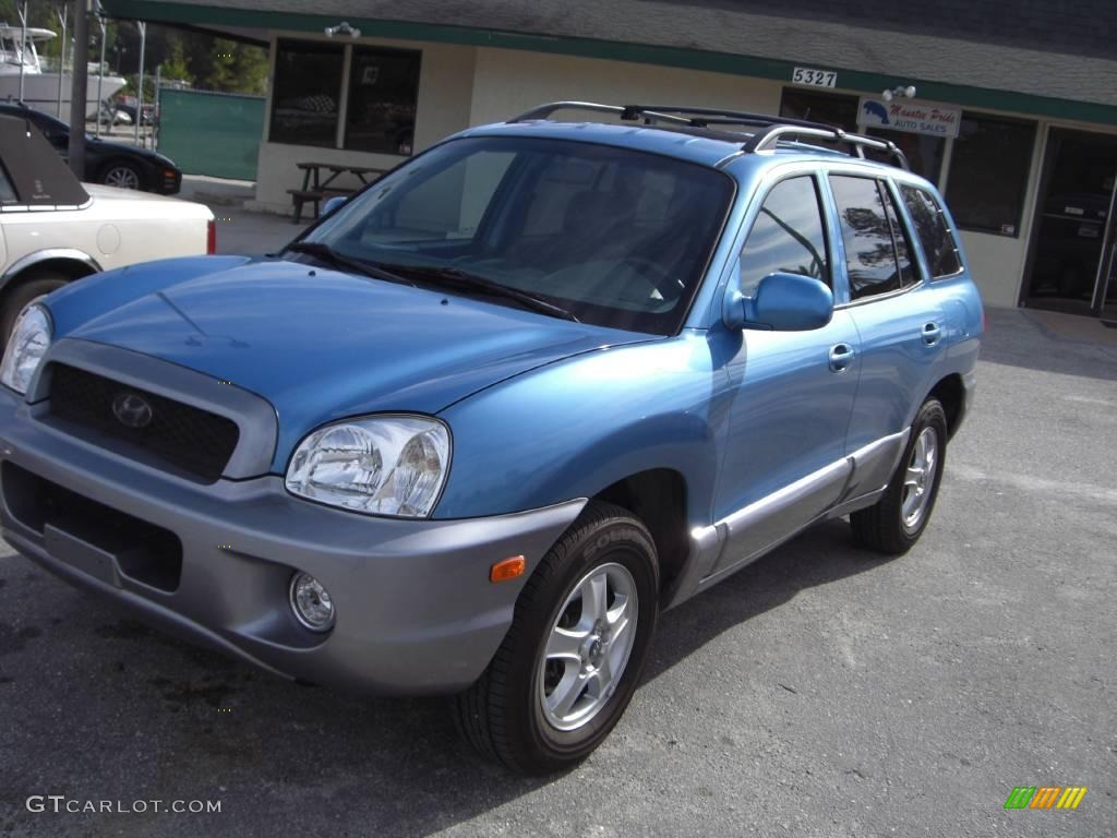 2004 arctic blue hyundai santa fe gls 20463425 car color galleries. Black Bedroom Furniture Sets. Home Design Ideas