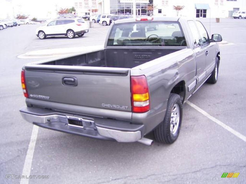 2002 Silverado 1500 LS Extended Cab - Medium Charcoal Gray Metallic / Graphite Gray photo #5