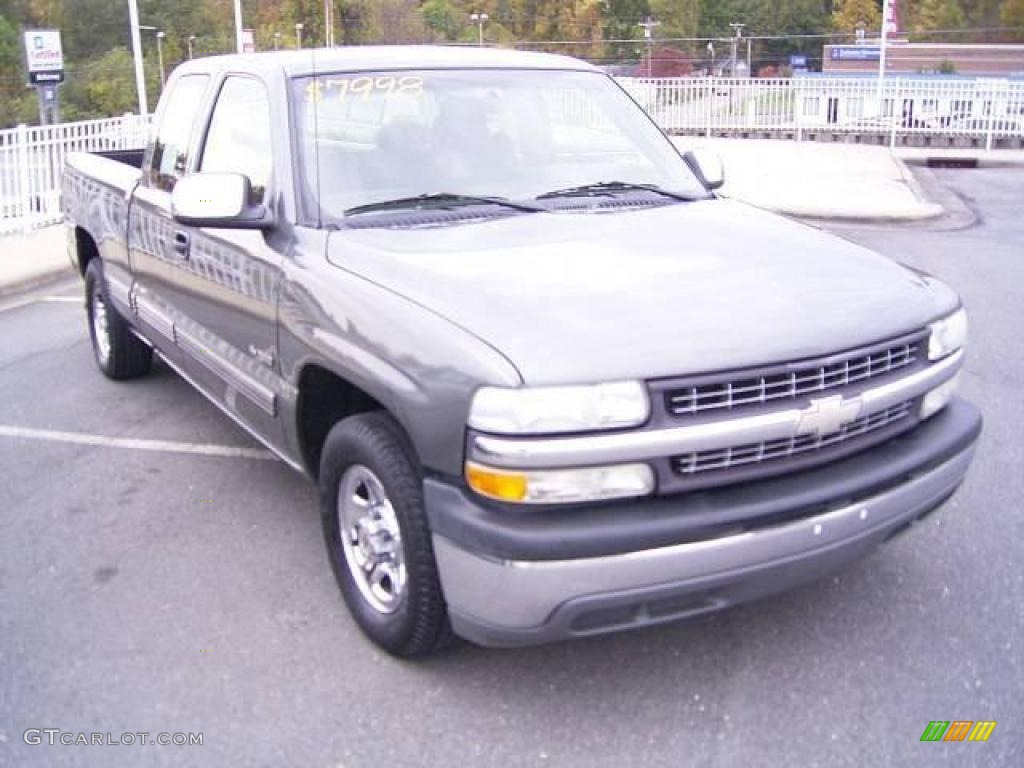 2002 Silverado 1500 LS Extended Cab - Medium Charcoal Gray Metallic / Graphite Gray photo #6