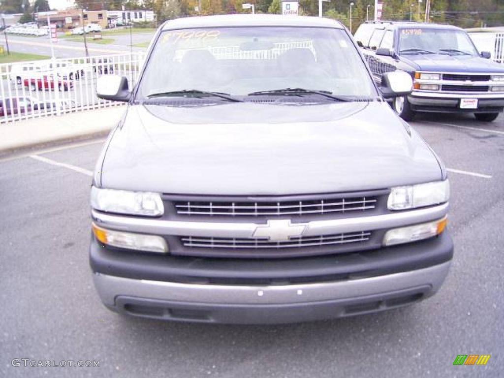 2002 Silverado 1500 LS Extended Cab - Medium Charcoal Gray Metallic / Graphite Gray photo #7