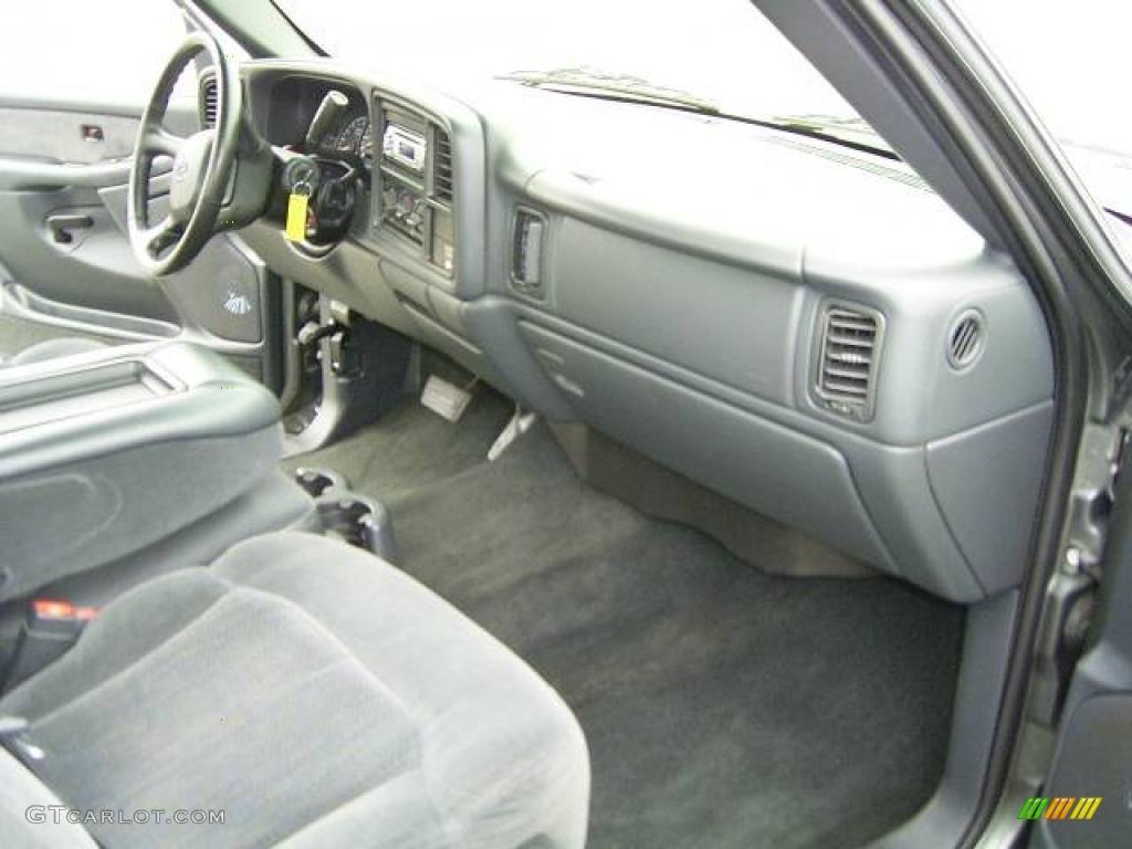 2002 Silverado 1500 LS Extended Cab - Medium Charcoal Gray Metallic / Graphite Gray photo #15