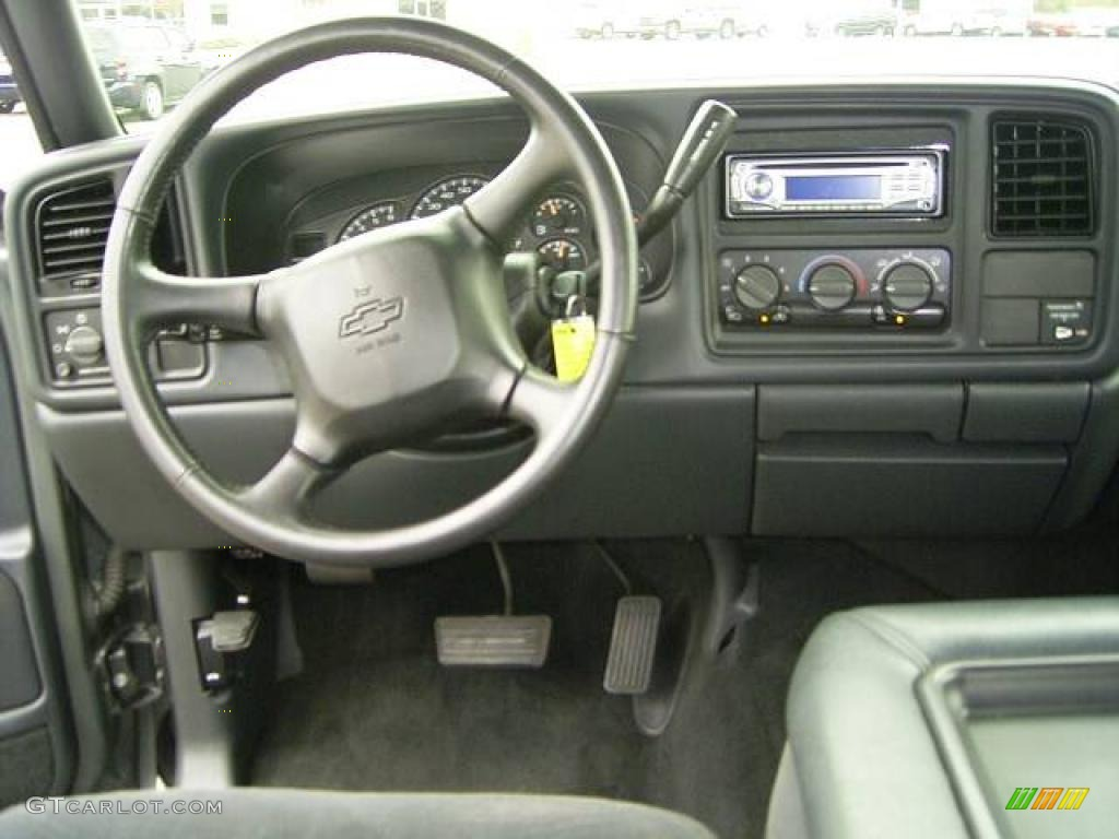 2002 Silverado 1500 LS Extended Cab - Medium Charcoal Gray Metallic / Graphite Gray photo #21