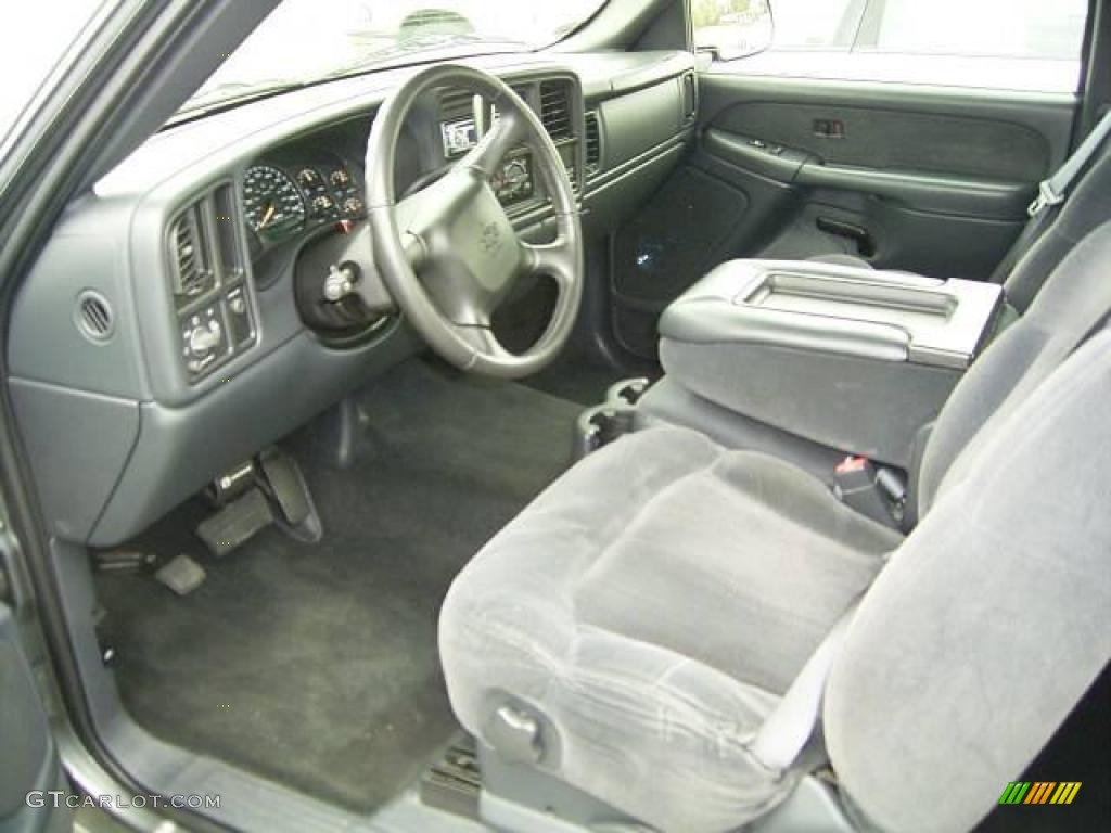 2002 Silverado 1500 LS Extended Cab - Medium Charcoal Gray Metallic / Graphite Gray photo #24
