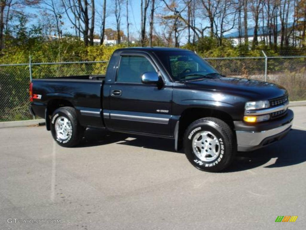 1999 onyx black chevrolet silverado 1500 ls regular cab 4x4 20465811 photo 6. Black Bedroom Furniture Sets. Home Design Ideas