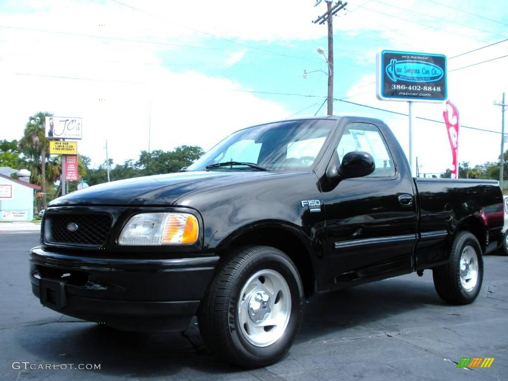 2002 Ford F150 Lariat Supercrew News >> 1998 Black Ford F150 XLT Regular Cab #20438534 | GTCarLot.com - Car Color Galleries