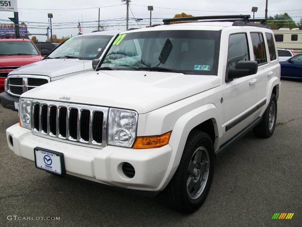 2007 stone white jeep commander sport 4x4 #20456627 | gtcarlot