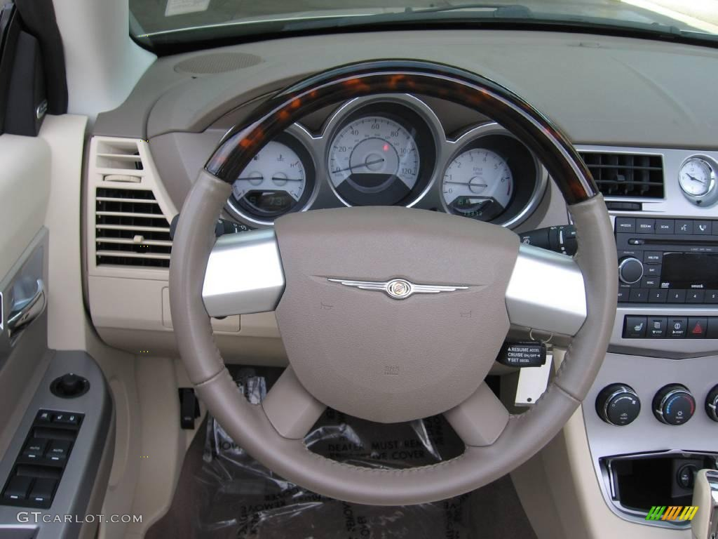 2008 Linen Gold Metallic Chrysler Sebring Limited Hardtop Convertible 20444156 Photo 7