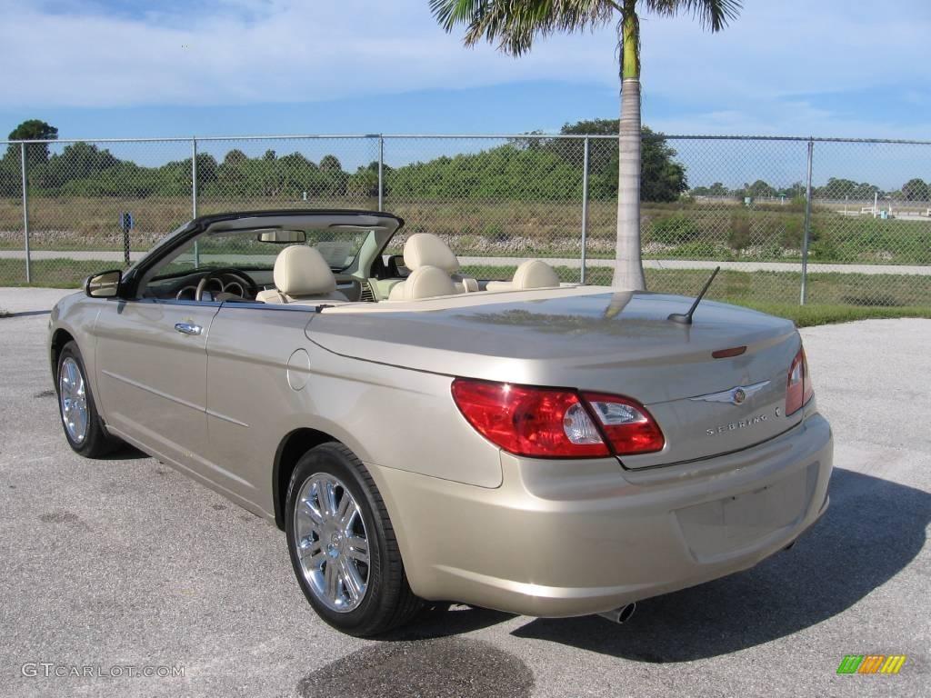 2008 linen gold metallic chrysler sebring limited hardtop convertible 20444156 photo 14. Black Bedroom Furniture Sets. Home Design Ideas