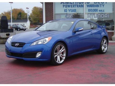 2010 Mirabeau Blue Hyundai Genesis Coupe 3.8 Track Coupe