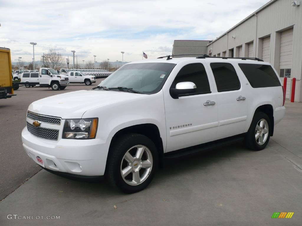 2007 summit white chevrolet suburban 1500 ltz 4x4. Black Bedroom Furniture Sets. Home Design Ideas