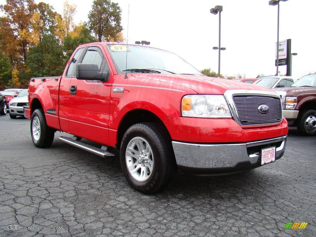 2007 bright red ford f150 xlt regular cab 20607165 car color galleries. Black Bedroom Furniture Sets. Home Design Ideas