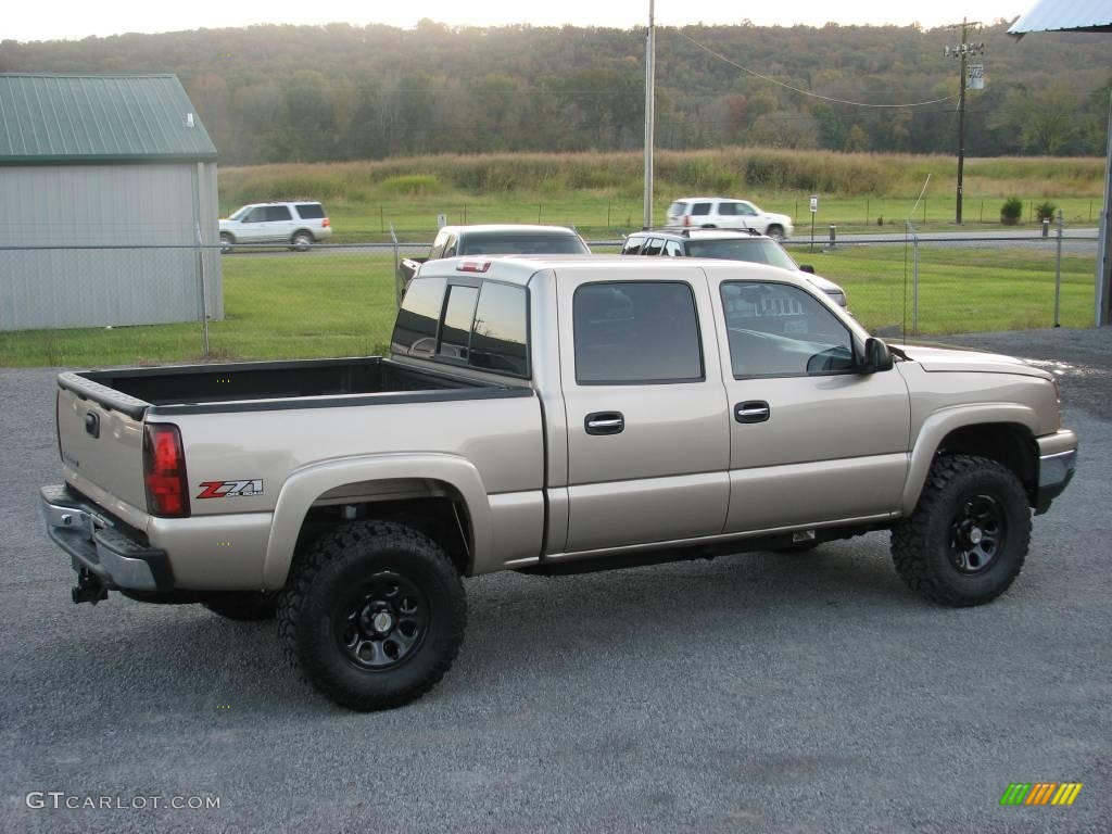 2006 silver birch metallic chevrolet silverado 1500 z71 crew cab 4x4 20609150 photo 5. Black Bedroom Furniture Sets. Home Design Ideas