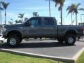 2004 Dark Shadow Grey Metallic Ford F250 Super Duty XLT Crew Cab 4x4  photo #2