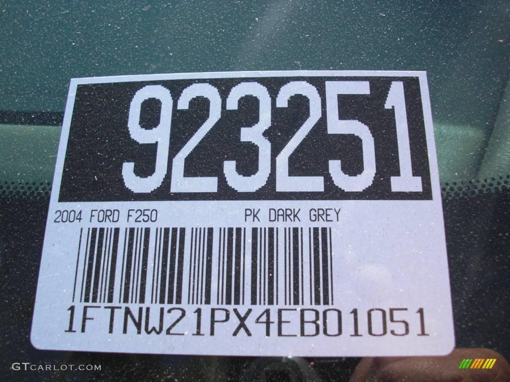 2004 F250 Super Duty XLT Crew Cab 4x4 - Dark Shadow Grey Metallic / Black photo #22