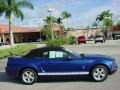 2007 Vista Blue Metallic Ford Mustang V6 Premium Convertible  photo #2