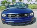 2007 Vista Blue Metallic Ford Mustang V6 Premium Convertible  photo #9