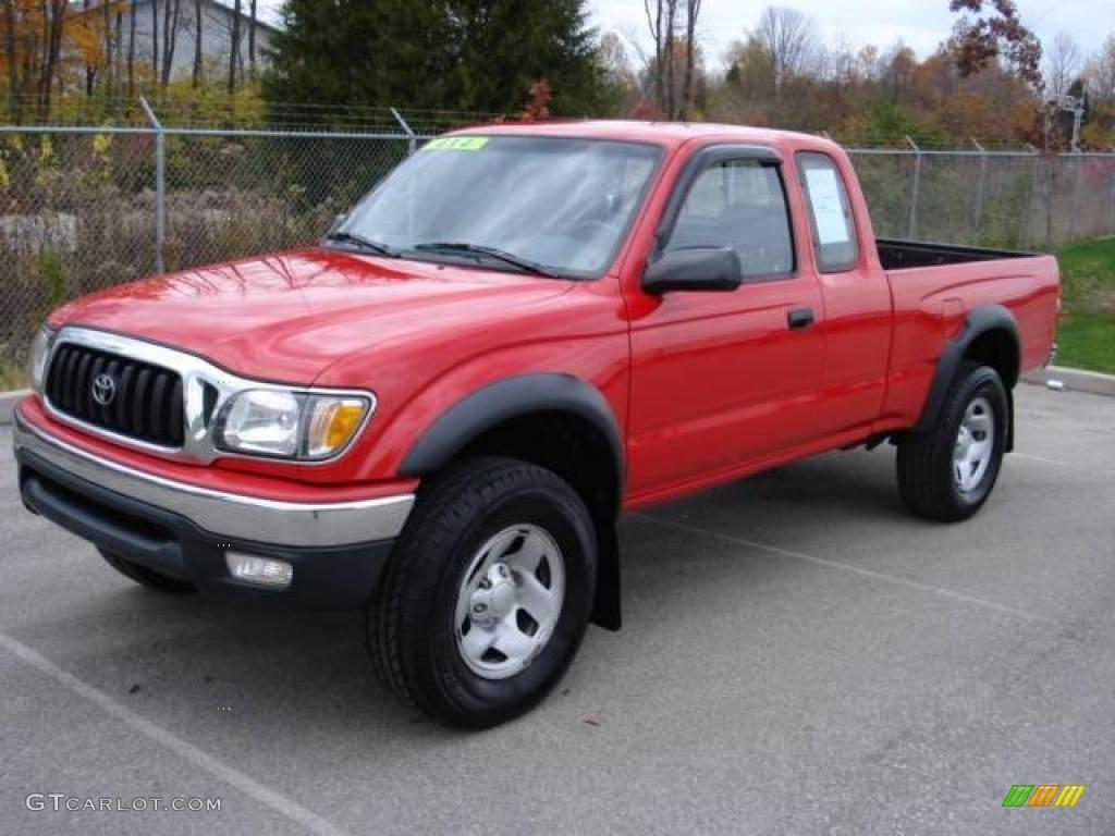 2001 Radiant Red Toyota Tacoma Xtracab 4x4 20670638