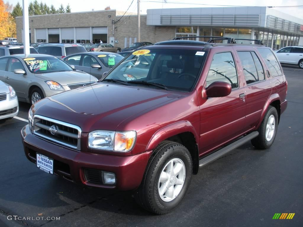 2001 burnt cherry red pearl nissan pathfinder le 4x4 #20662226
